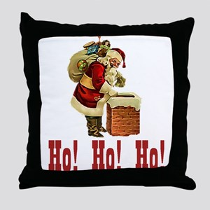 Ho! Ho! Ho! Christmas Throw Pillow