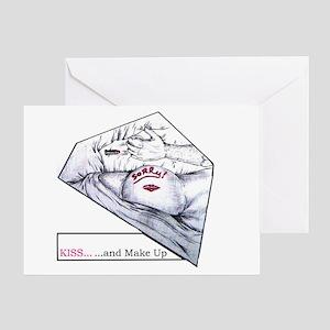 KISS AND MAKE-UP Greeting Card