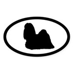 Shih Tzu Oval Sticker (10 pk)