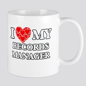 I Love my Records Manager Mugs