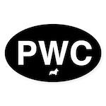 Black PWC Oval Sticker (50 pk)
