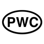 PWC Oval Sticker (50 pk)