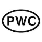 PWC Oval Sticker (10 pk)