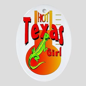 HOT TEXAS GIRL Keepsake (Oval)