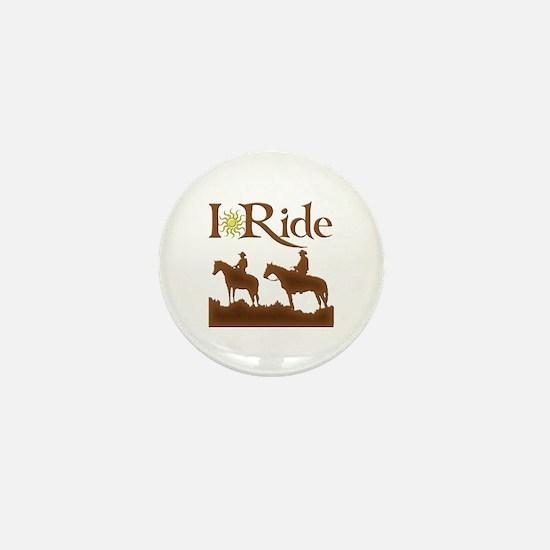 I Ride Mini Button