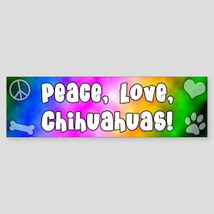 Hippie Chihuahua Bumper Sticker