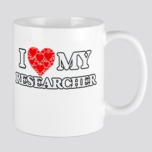 I Love my Researcher Mugs