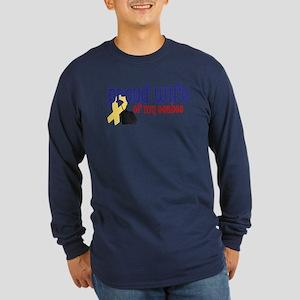 Proud Wife of my Seabee Long Sleeve Dark T-Shirt