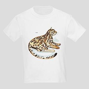 Ocelot Wild Cat (Front) Kids T-Shirt