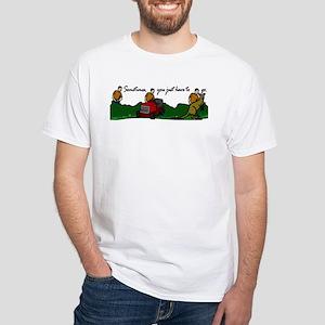 Kangaroo Poop White T-Shirt