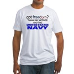 Got Freedom? Navy (Mother) Fitted T-Shirt