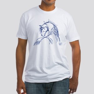 Horse Head Sketch Fitted T-Shirt