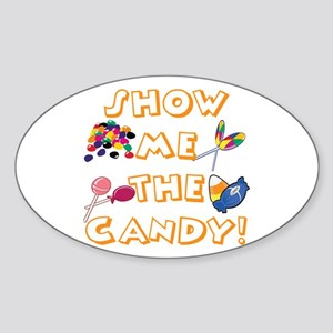 Show the Candy Oval Sticker