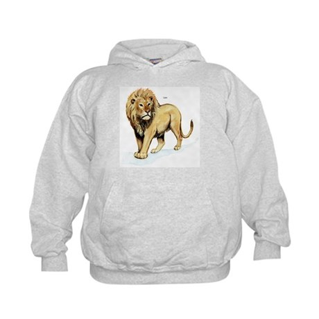 Lion (Front) Kids Hoodie