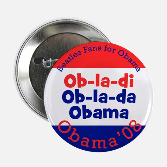 Beatles Fans for Obama Button