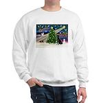 Xmas Magic & Black Lab Sweatshirt