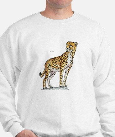 Cheetah Wild Cat (Front) Sweatshirt