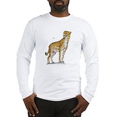 Cheetah Wild Cat (Front) Long Sleeve T-Shirt