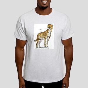 Cheetah Wild Cat (Front) Ash Grey T-Shirt