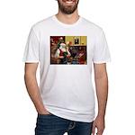 Santa's Black Lab Fitted T-Shirt