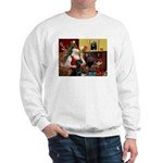 Santa's Black Lab Sweatshirt