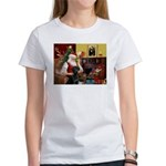 Santa's Black Lab Women's T-Shirt