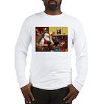 Santa's Chocolate Lab Long Sleeve T-Shirt