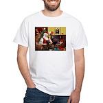 Santa's Chocolate Lab White T-Shirt