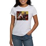 Santa's Chocolate Lab Women's T-Shirt