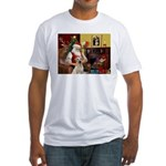 Santa's Yellow Lab #7 Fitted T-Shirt