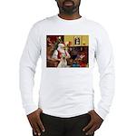 Santa's Yellow Lab #7 Long Sleeve T-Shirt