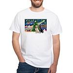 Xmas Magic/2 Labs (Y+B) White T-Shirt