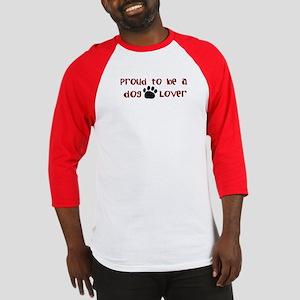 Proud Dog Lover Baseball Jersey