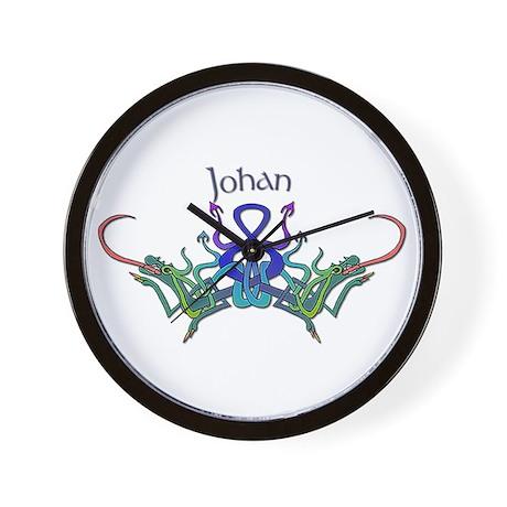 Johanna's Celtic Dragons Name Wall Clock