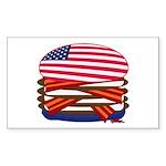 The Expensive USA Burger Sticker