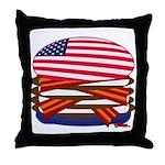 USA Burger Throw Pillow