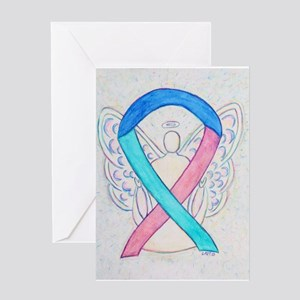 Thyroid Cancer Awareness Ribbon Greeting Cards