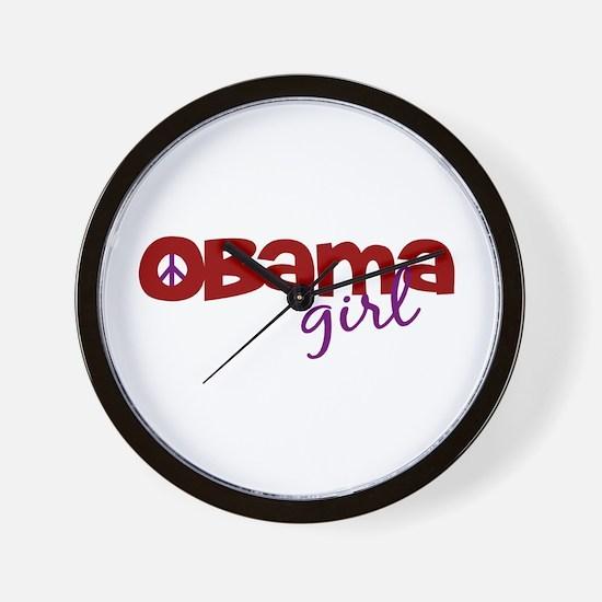 Obama Girl Wall Clock