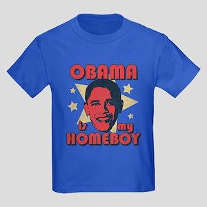 Obama is my Homeboy Kids Dark T-Shirt