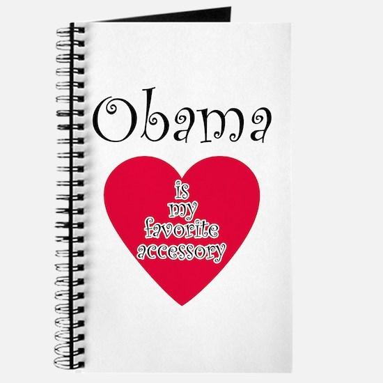 Cute I heart obama Journal