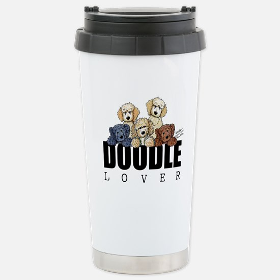 Doodle Lover Stainless Steel Travel Mug