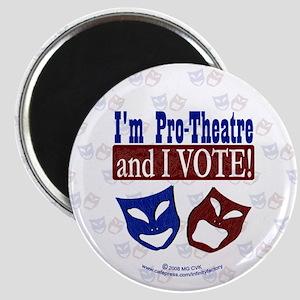 Pro Theatre Vote Magnet