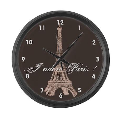 Paris Eiffel Tower Large Wall Clock By Inamar