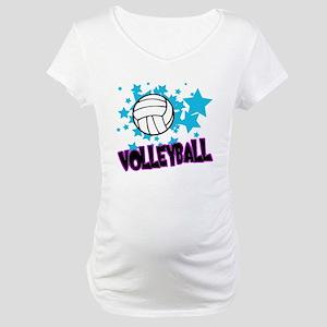 Volleyball Stars Maternity T-Shirt