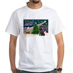 Xmas Magic/Newfie (#2) White T-Shirt