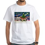 XmasStar/Nova Scotia dog White T-Shirt