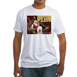 Santa's Old English #5 Fitted T-Shirt