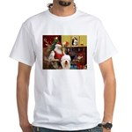 Santa's Old English #5 White T-Shirt