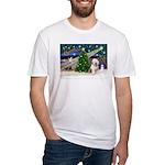 XmasMagic/Old English #6 Fitted T-Shirt
