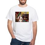 Santa's Old English #6 White T-Shirt